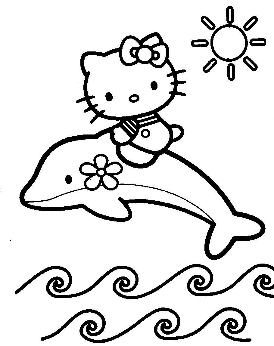 Hello Kitty , dibujos para colorear