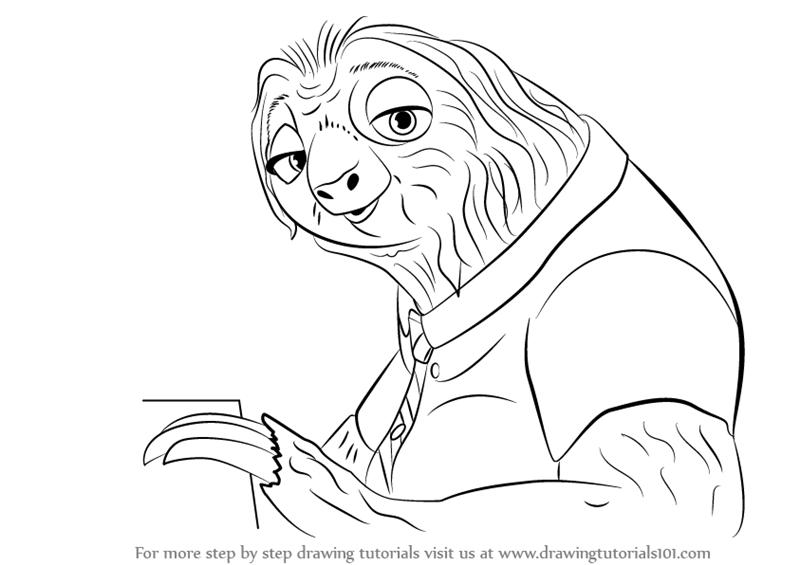 zootopia dibujos para colorear  Dibujalandia