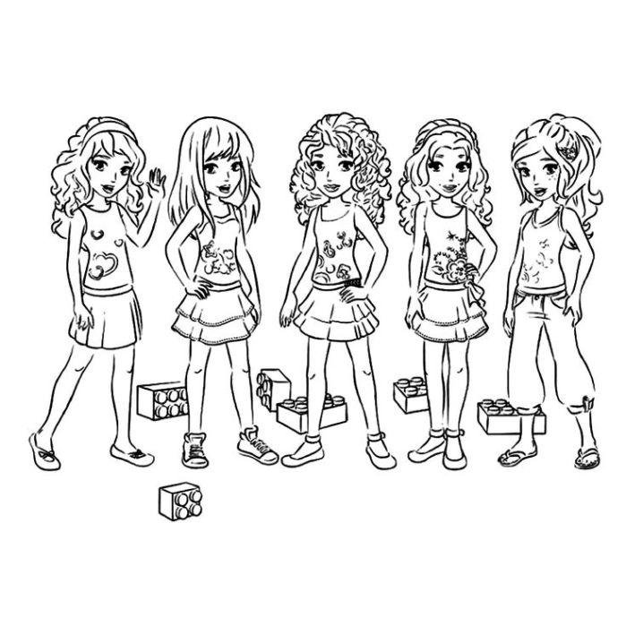 lego friendos dibujos colorear - Dibujalandia