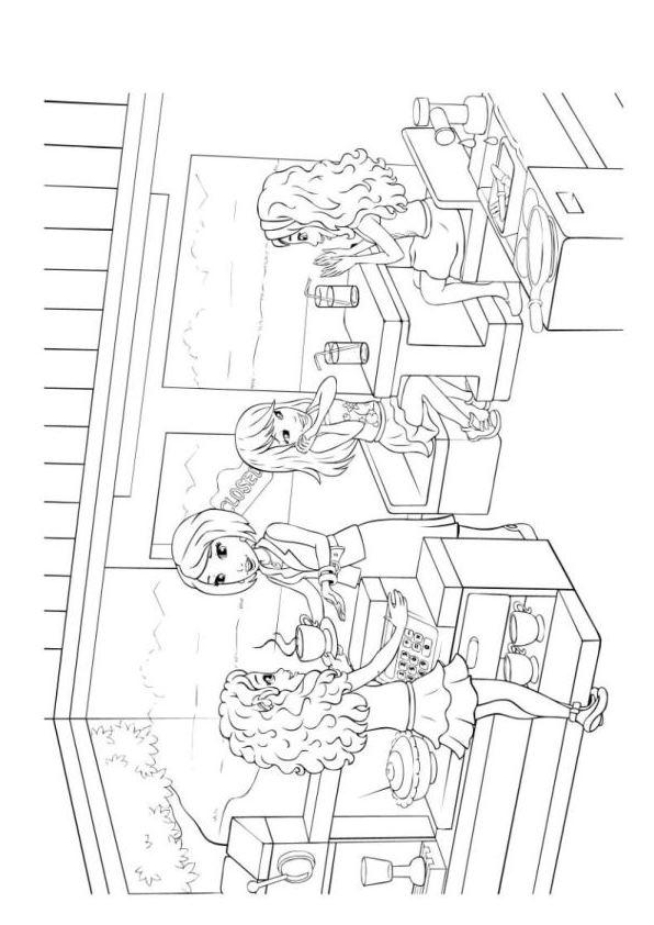 lego friends cafeteria dibujos para colorear - Dibujalandia