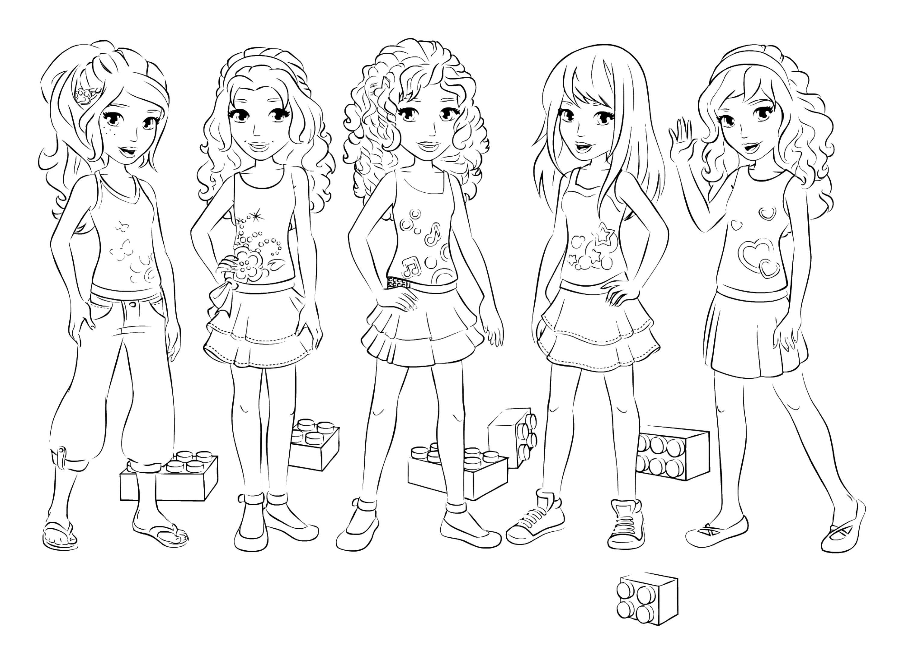 lego friends colorear dibujos - Dibujalandia
