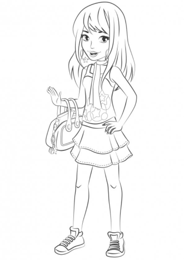 lego friends stephanie dibujos para colorear - Dibujalandia