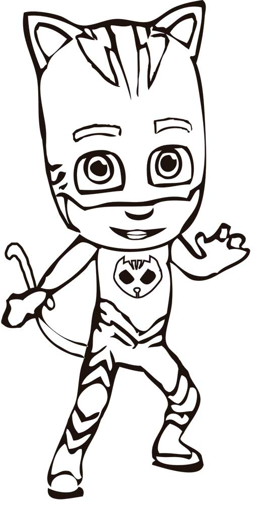 Colouring Pages Pj Masks : Pj coloring pages masks sketch page