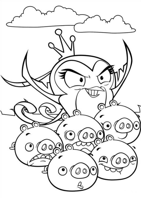 Angry Birds Stella dibujos Reina para colorear - Dibujalandia