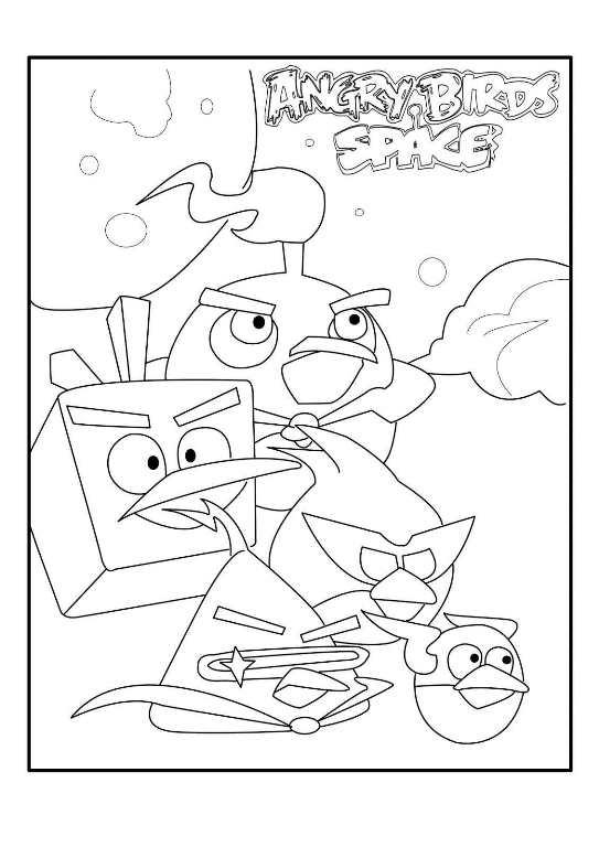 angry bird space equipo dibujos para colorear - Dibujalandia