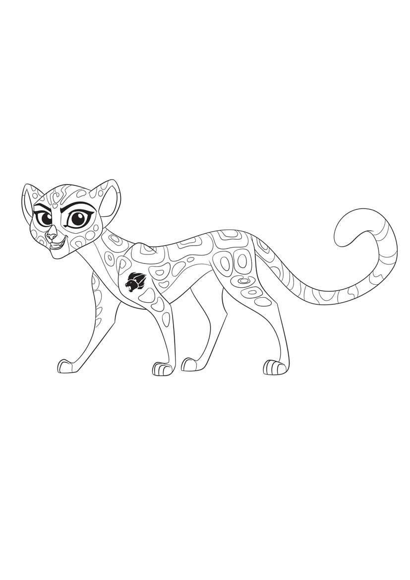 La guardia del león , dibujos para colorear