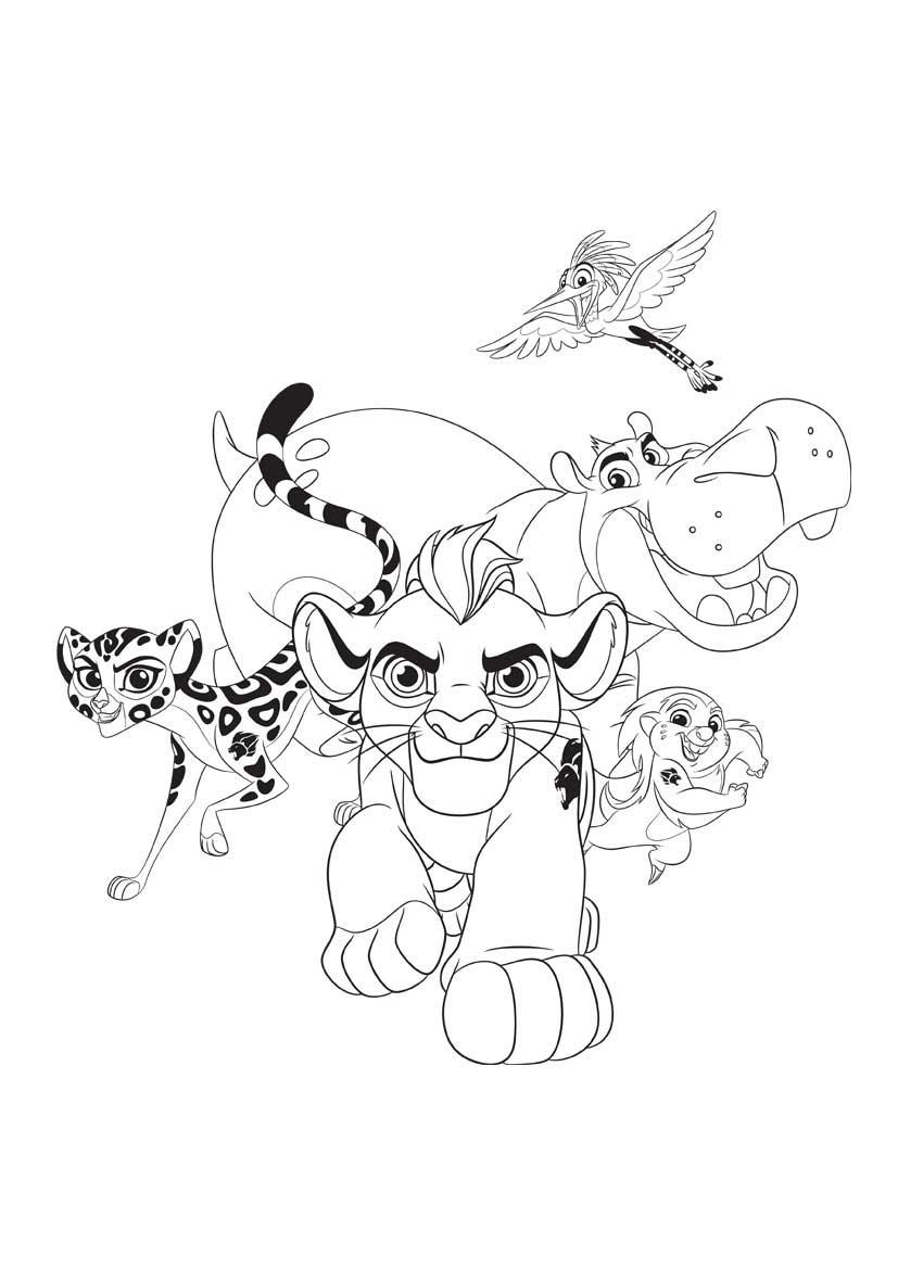 Único Guarida De Leones Para Colorear Composición - Dibujos Para ...