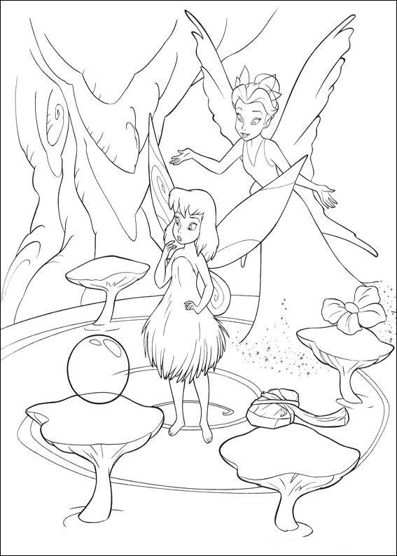dibujos colorear campanilla peque invierno  Dibujalandia
