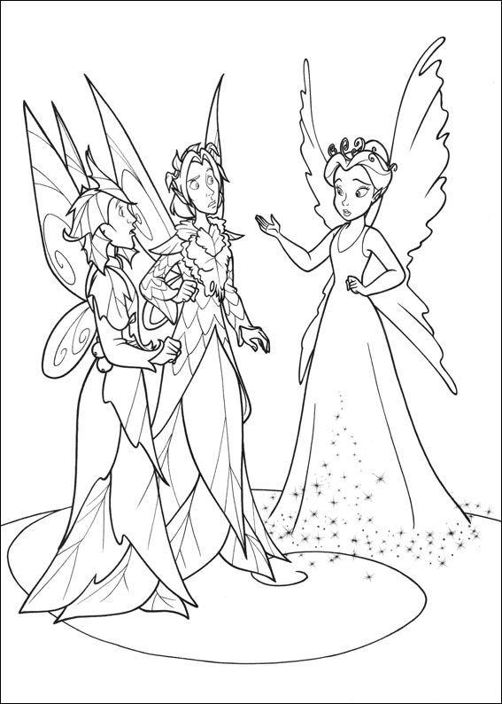 dibujos colorear campanilla reina  Dibujalandia