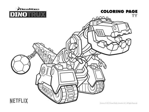dinotrux dibujos colorear peques - Dibujalandia