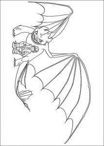 Dibujos para colorear de o entrenar a tu dragon