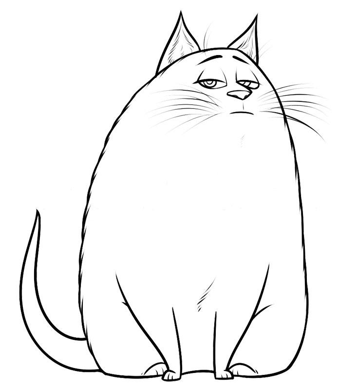 chloe la vida secreta de tus mascotas dibujos para