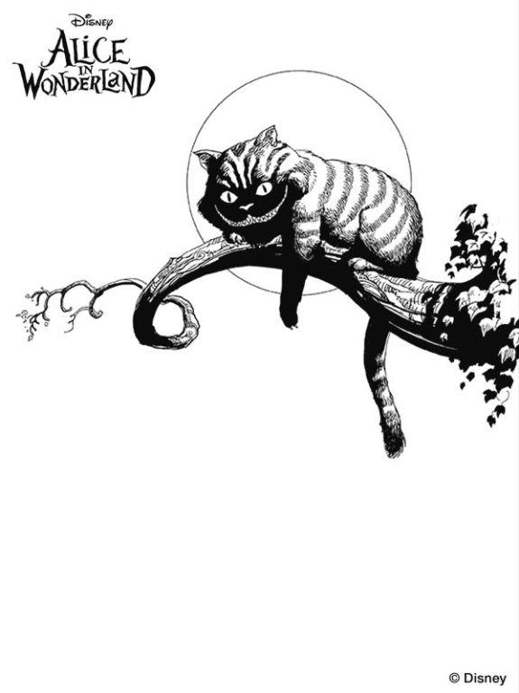 Gato alicia en el pais de las maravillas tim burton - Dibujalandia