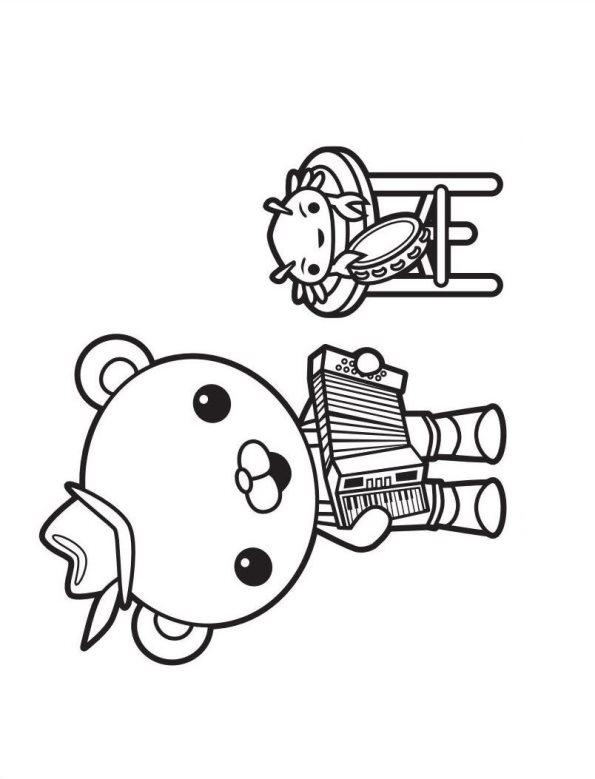 polo polar octonautas dibujos para colorear