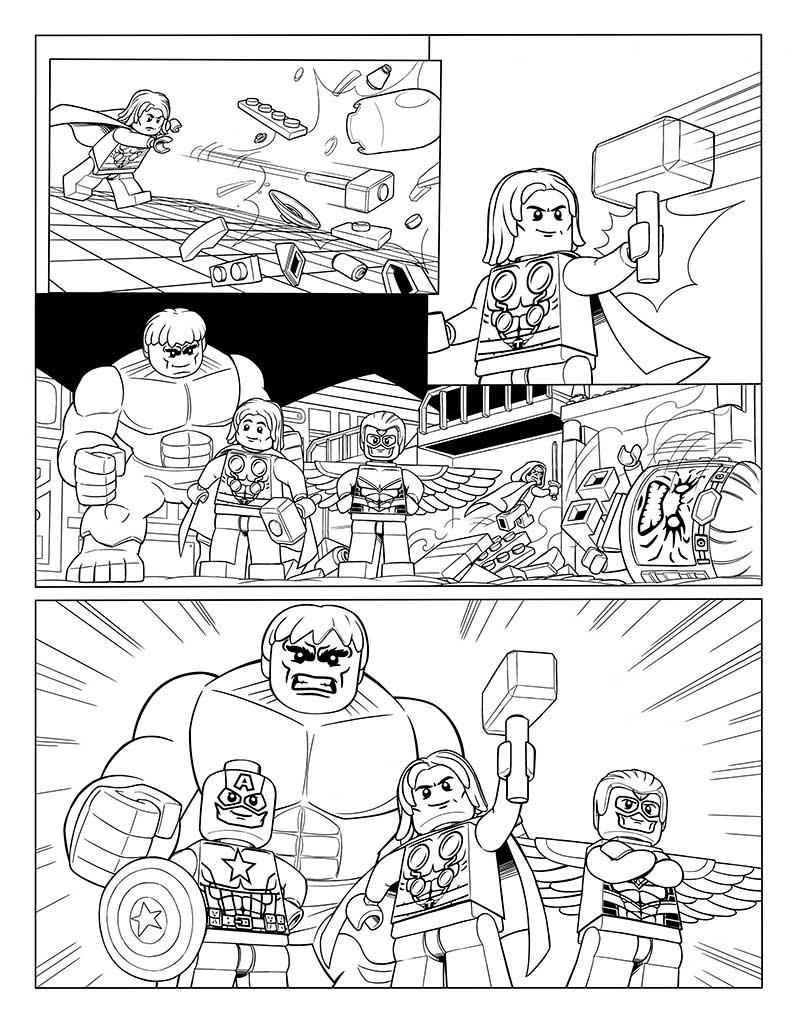 Lego Marvel Avengers Ausmalbilder: Lego Marvel Dibujos Colorear