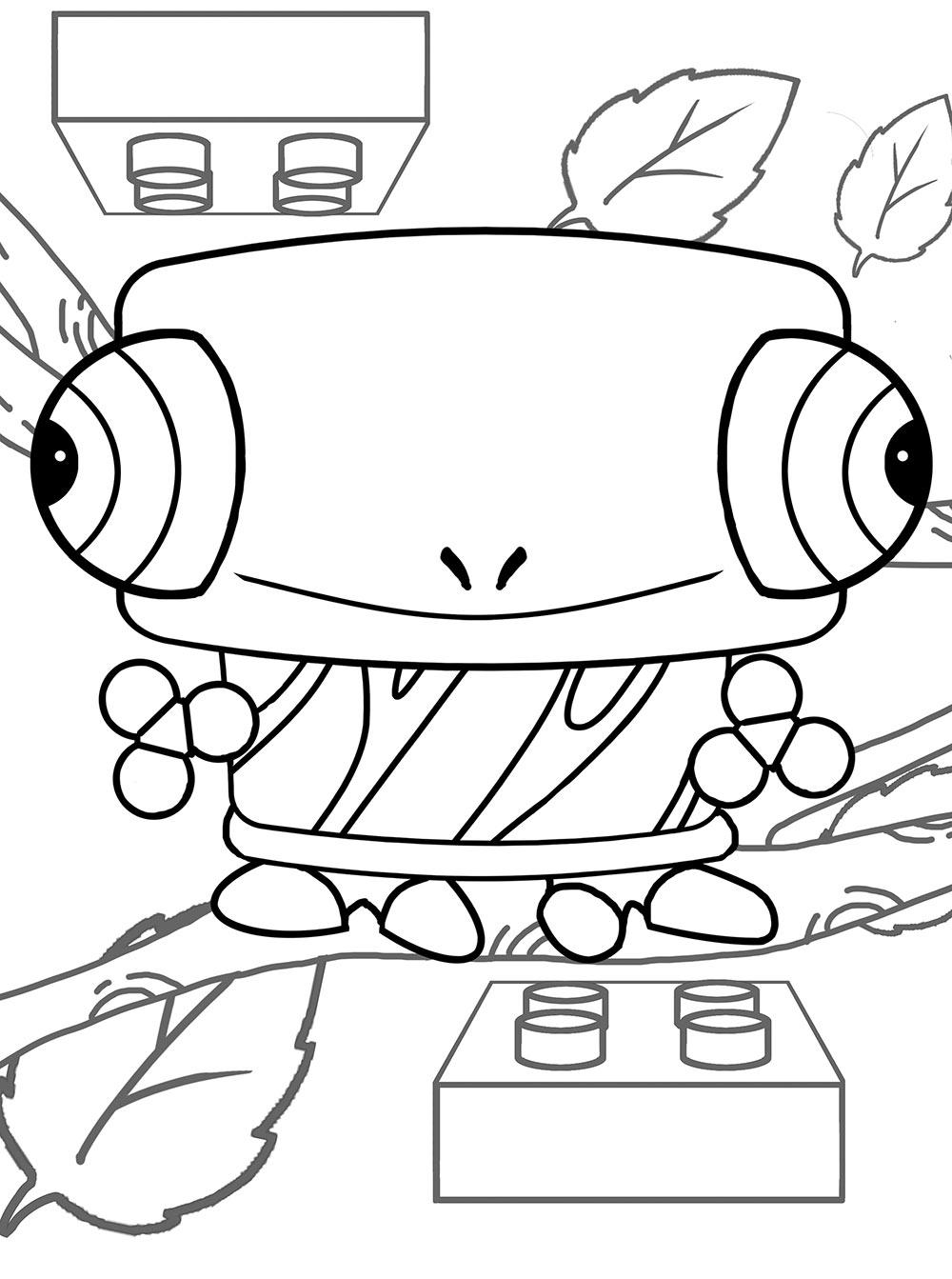 leon camaleon canimals dibujos colorear e imprimir - Dibujalandia