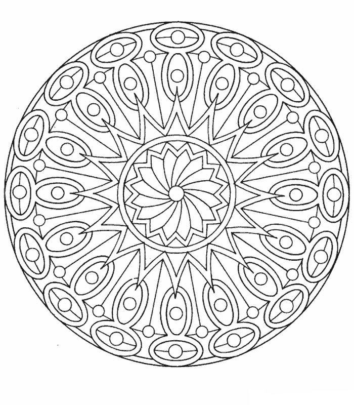 mandala ojos dibujos colorear - Dibujalandia