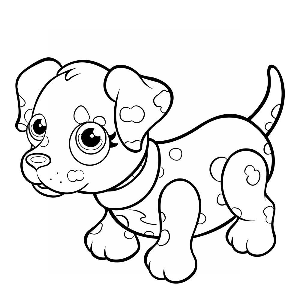 Nuevo Imagenes De Perros Infantiles Para Colorear