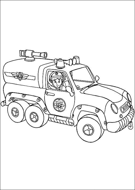 Sam el bombero dibujos para colorear