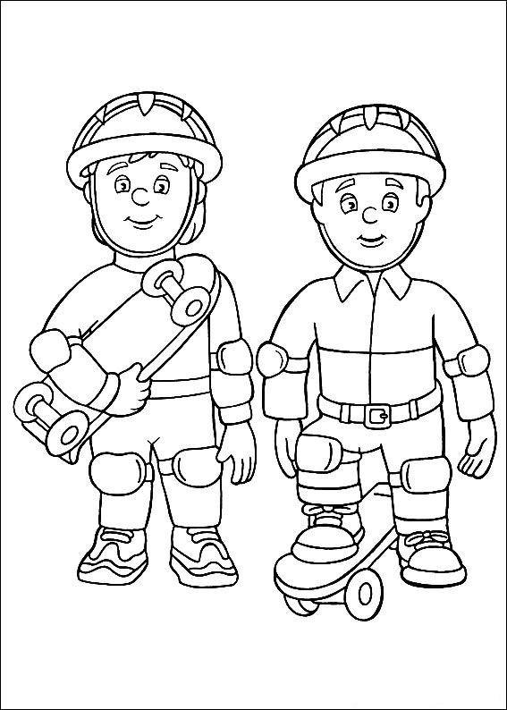 el bombero sam dibujos colorear  Dibujalandia