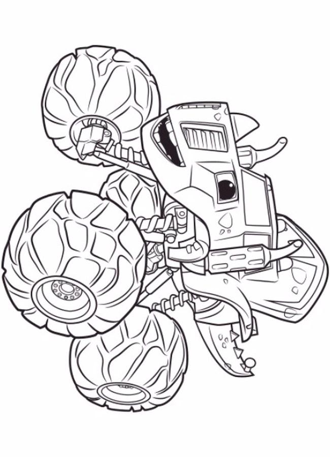 Zeg Blaze Y Los Monster Machine Dibujos Colorear E