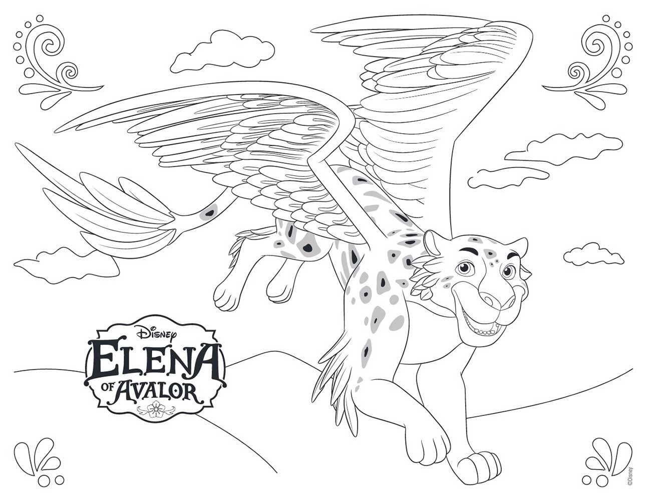 Elena de Avalor dibujos para colorear