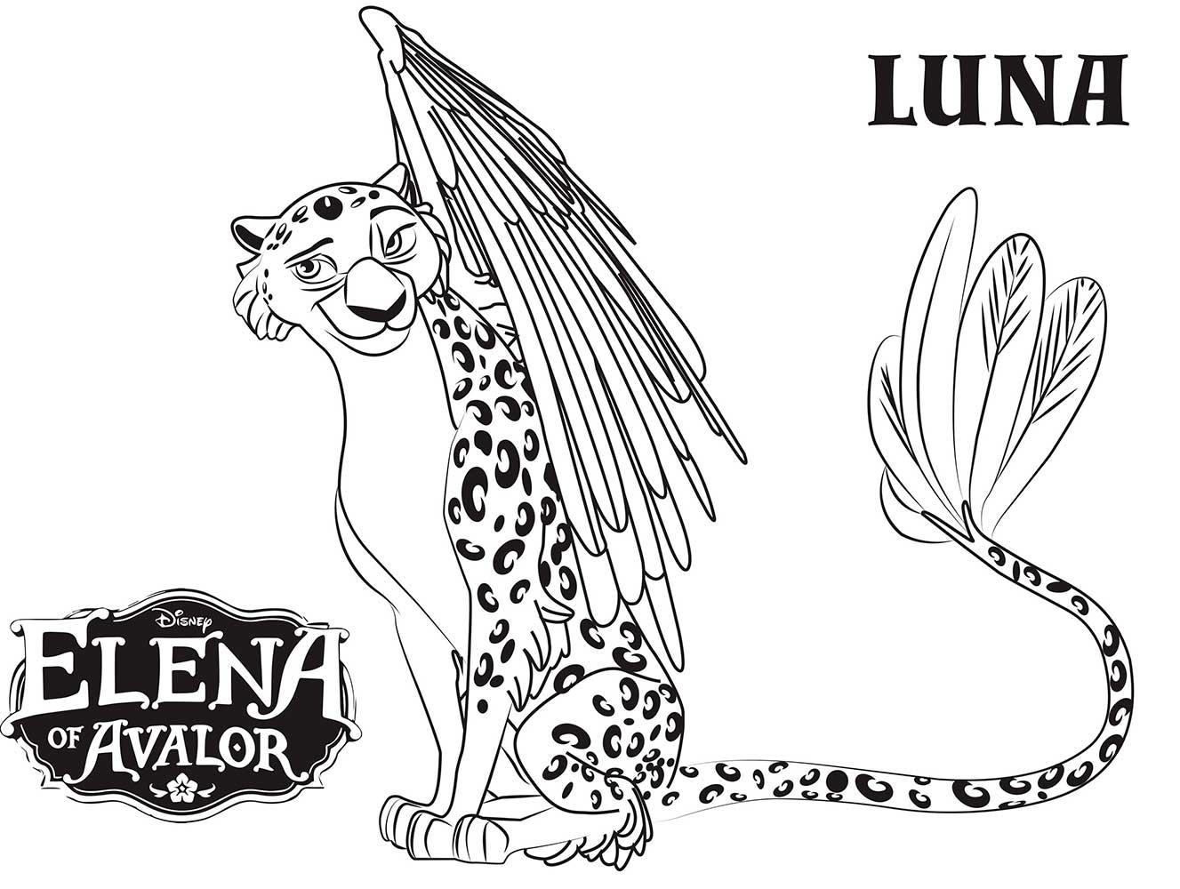 Dibujos Para Colorear De Disney Infinity: Luna-dibujos-colorear-elena-de-avalor