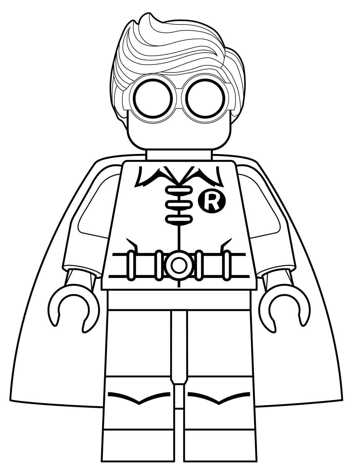 robin batman lego pelicula dibujos colorear - Dibujalandia