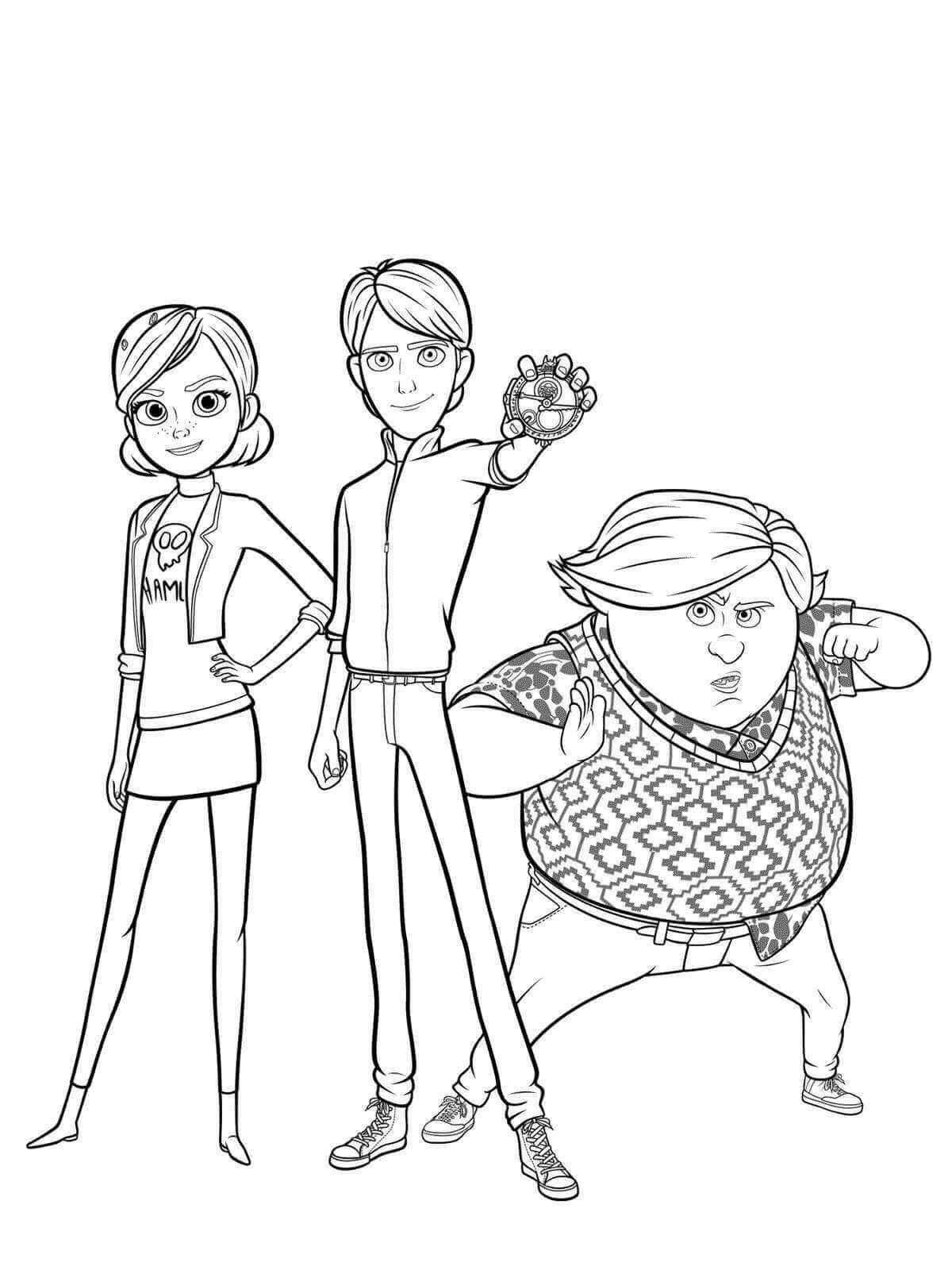 dibujos para colorear trollhunters