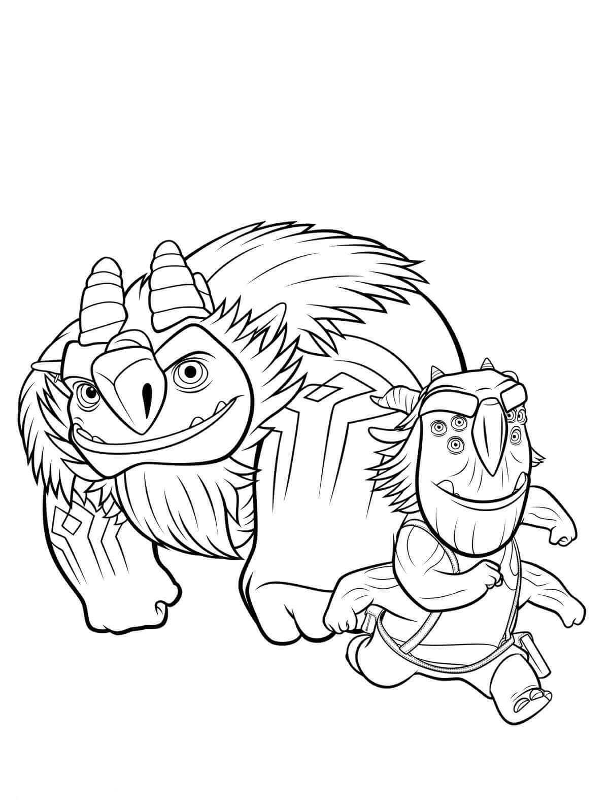 Trollhunters Dibujos Para Colorear on Angry Birds Coloring Pages