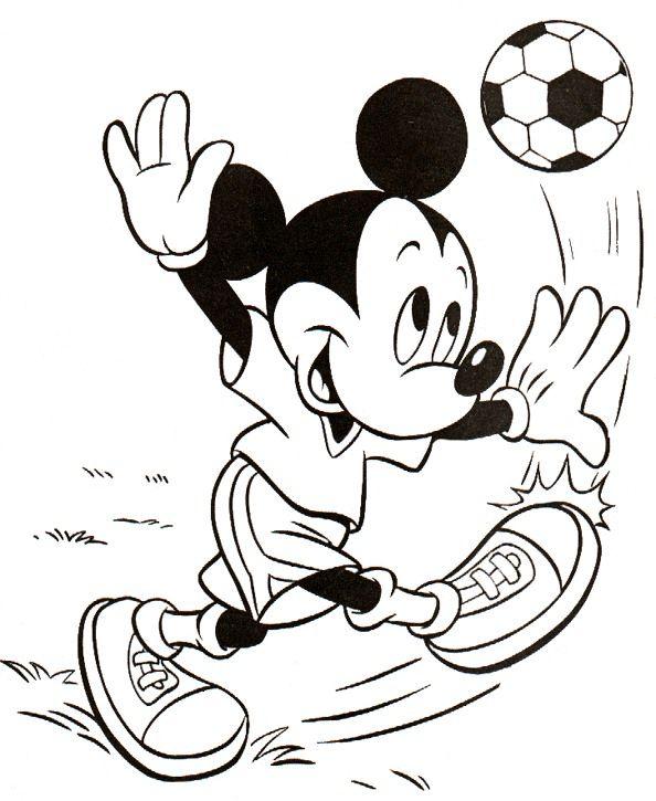 mickey mouse futbol para colorear - Dibujalandia
