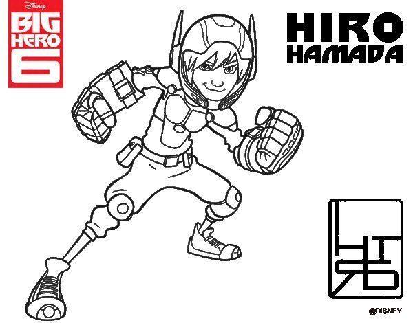 big-hero-6-hiro-hamada-colorear - Dibujalandia