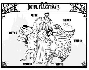 Hotel Transylvania Dibujos Para Colorear