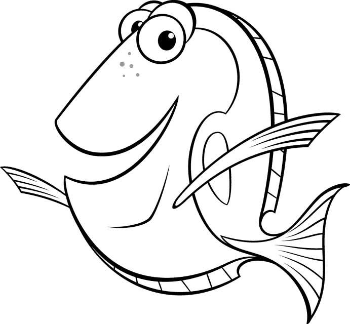 Dibujos Para Colorear De La Pelicula Buscando A Nemo