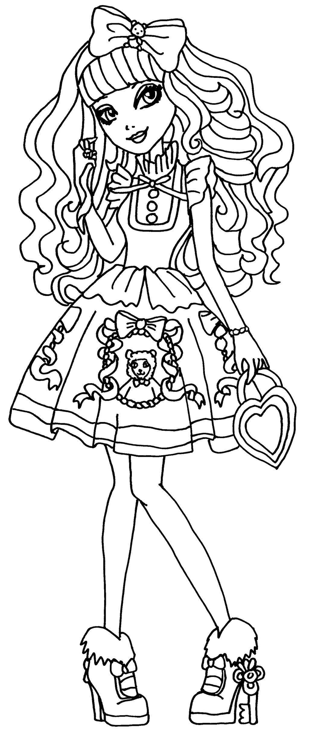 Blondielocks Ever After High Dibujos Para Colorear