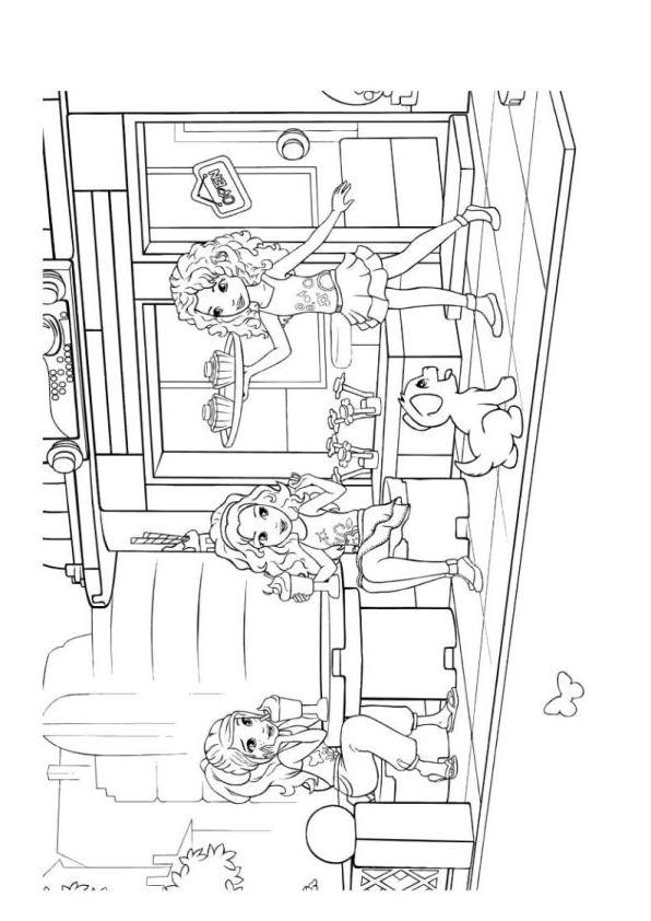 lego friends amigas dibujos para colorear - Dibujalandia