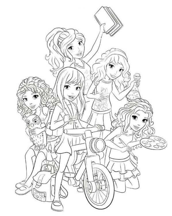 lego friends amigas moto dibujos para colorear - Dibujalandia