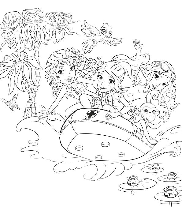 lego friends dibujos para colorear - Dibujalandia