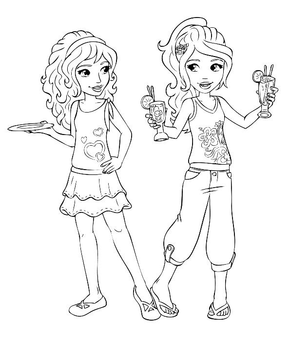 lego friends emma y mia dibujos para colorear - Dibujalandia