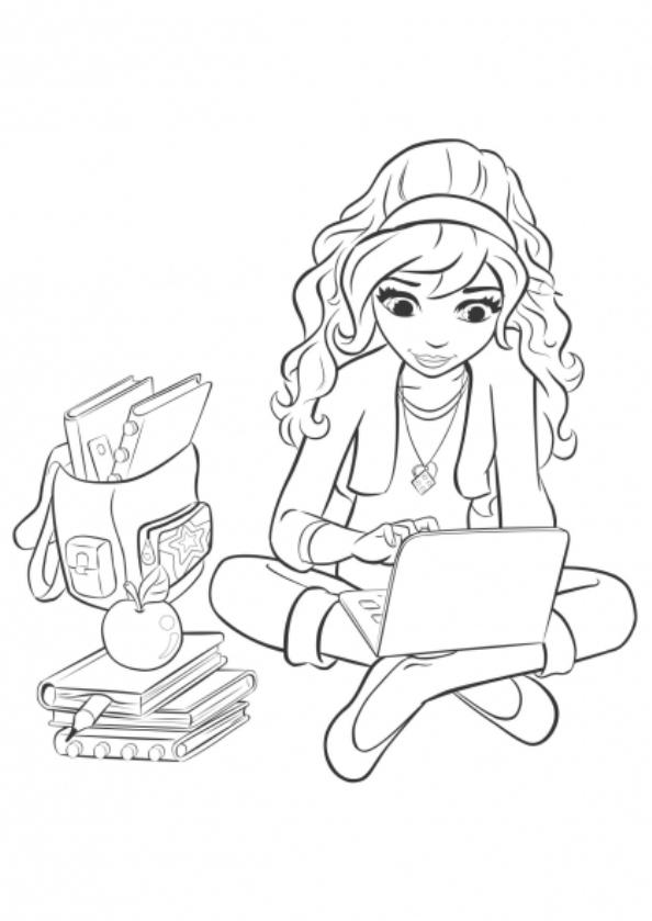 lego friends olivia dibujos para colorear - Dibujalandia