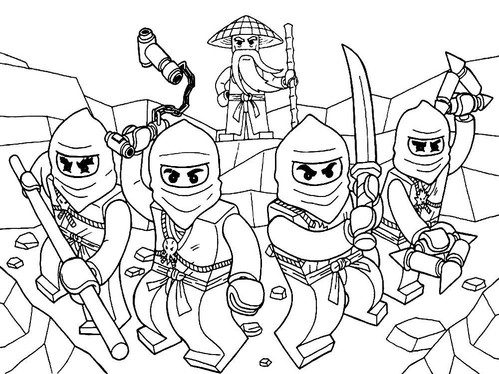 lego ningajo dibujos colorear ninjas - Dibujalandia