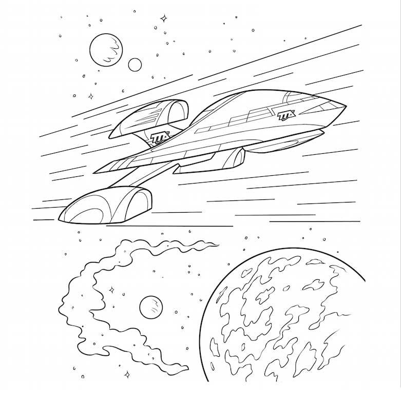 Miles Del Futuro Dibujos Para Colorear Nave Dibujalandia