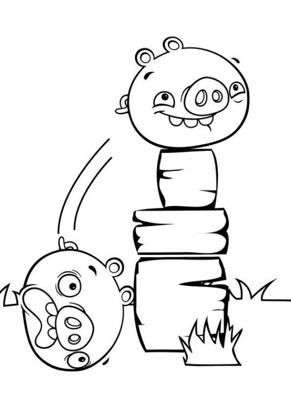 Angry Birds Stella Cerdos Dibujos Para Colorear Dibujalandia