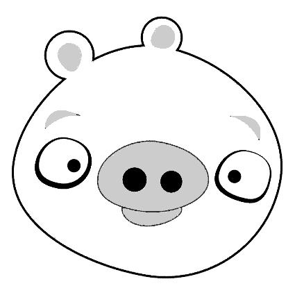 Cerdo Angry Bird dibujos para colorear - Dibujalandia