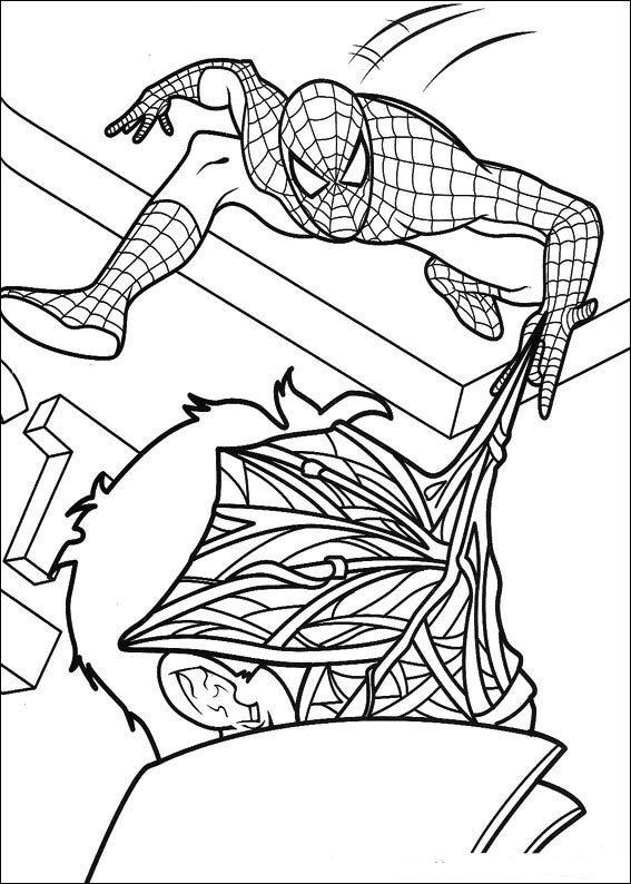 Dibujos para colorear Spiderman 7 - Dibujalandia