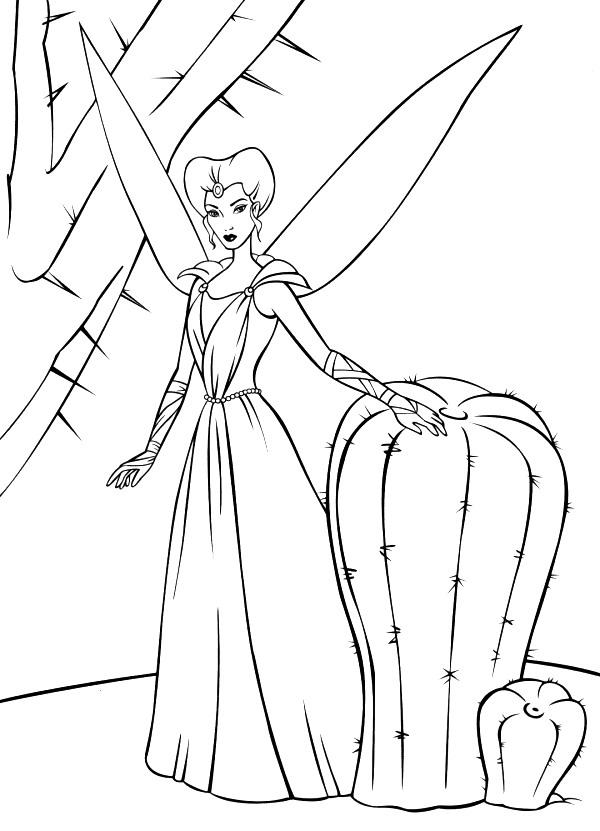 Reina Dibujos Barbie Fairytopia Colorear Dibujalandia
