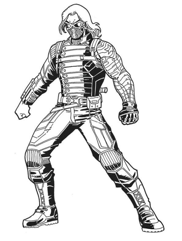 Soldado De Invierno Guardianes De La Galaxia Dibujos Para Colorear