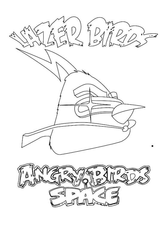 angry bird space lazer psca dibujos para colorear - Dibujalandia