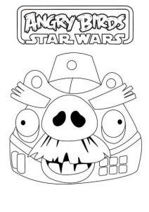 Angry Birds Star Wars Dibujos Para Colorear