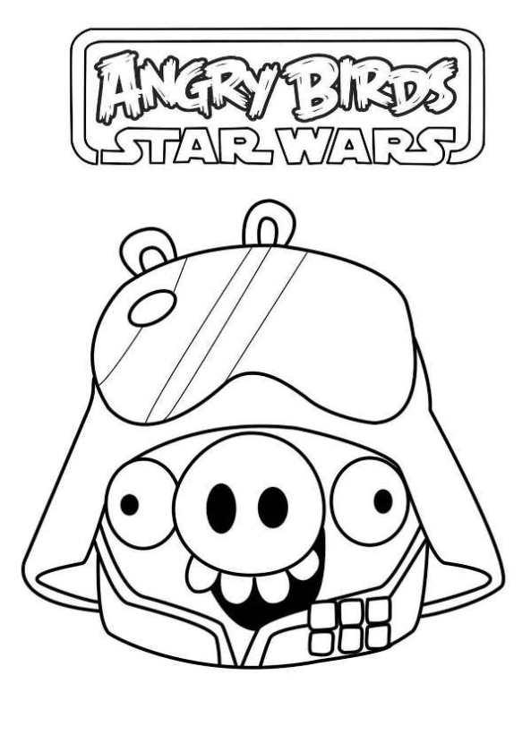 Excelente Angry Birds Star Wars Para Colorear Páginas R2d2 Imagen ...